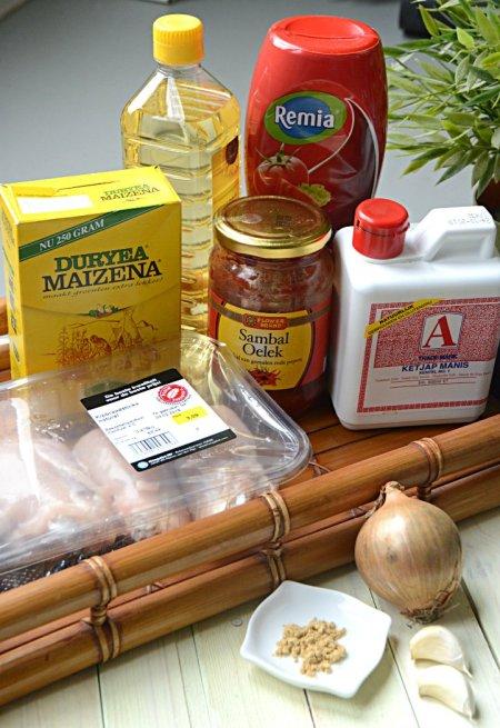 ingrediënten-ayam pedis
