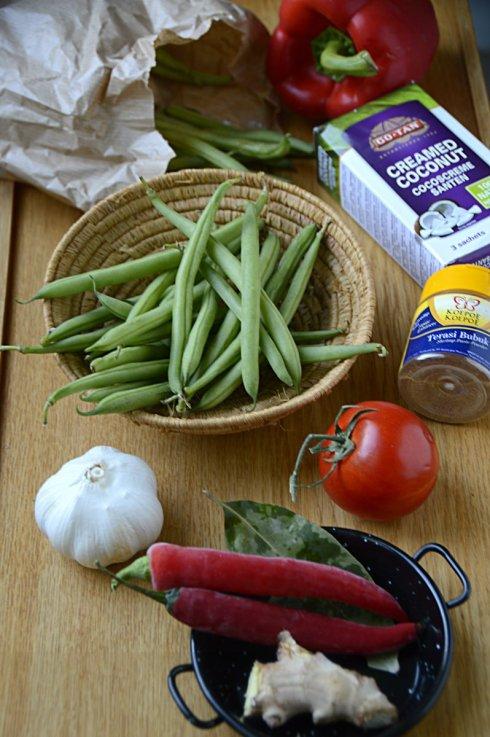 ingrediënten- sambel goreng -boontjes