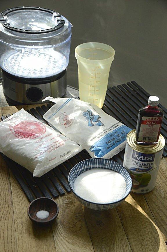 Ingrediënten- kue lapis