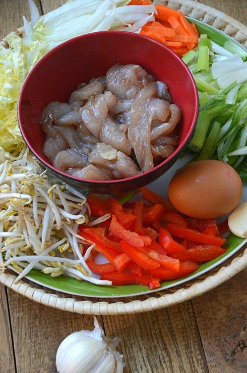 ingrediënten- mihoen- fijngesneden