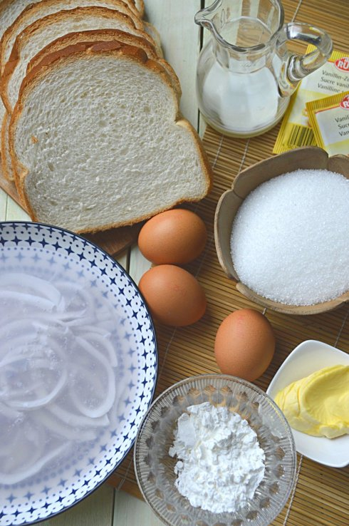 ingrediënten- broodpudding