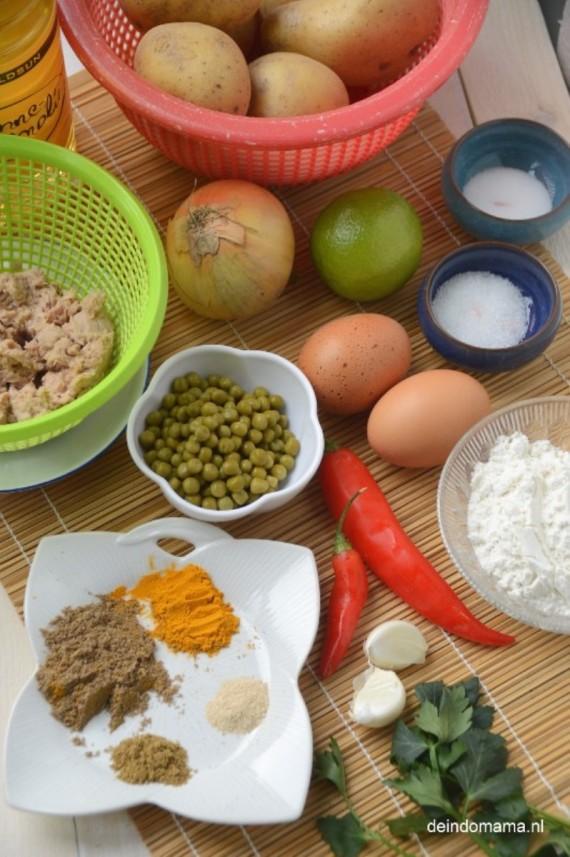ingrediënten- perkedel- ikan