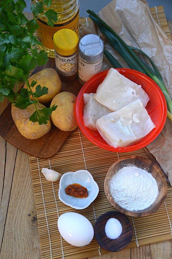 ingrediënten- perkede-l ikan- (met kabeljauwfilet)