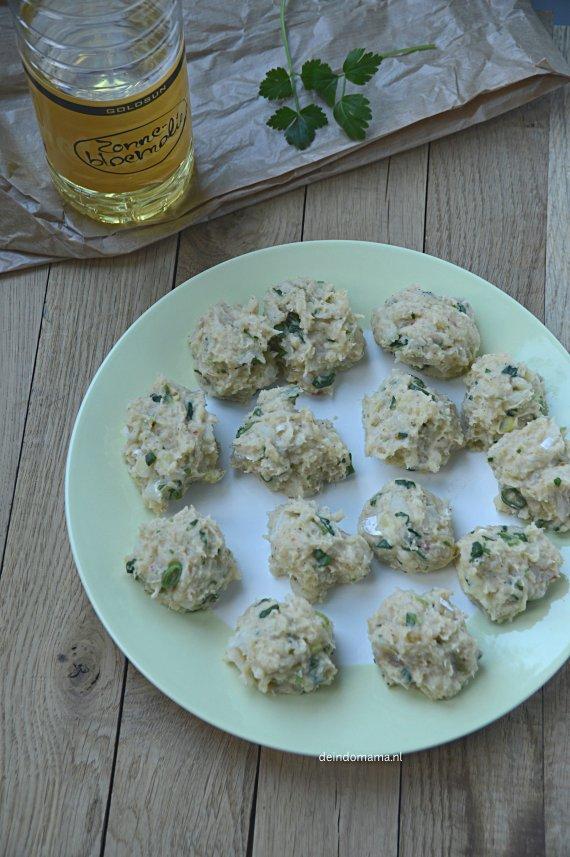 voorbereiding- perkedel- ikan- (met kabeljauwfilet)