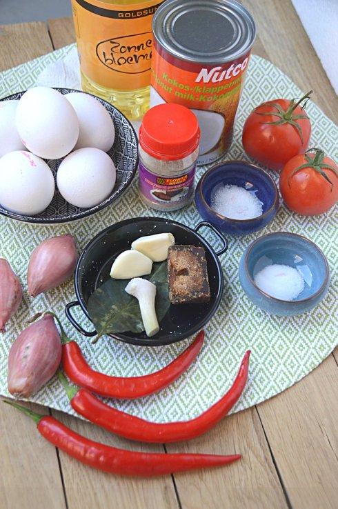 ingrediënten- sambal- goreng- telor