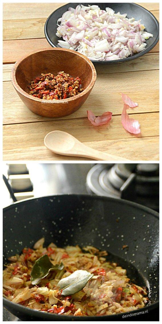 voorbereiding sambal bawang