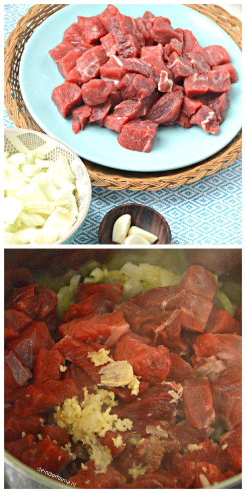Voorbereiding semur daging
